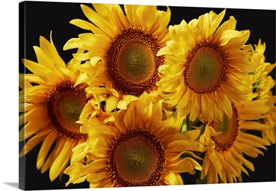 Natural Bouquet With Yellow Sunflowers