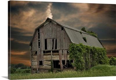 Old Barn At Sunset