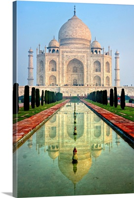 Panoramic View Of Taj Mahal At Sunrise, Agra, Uttar Pradesh, India