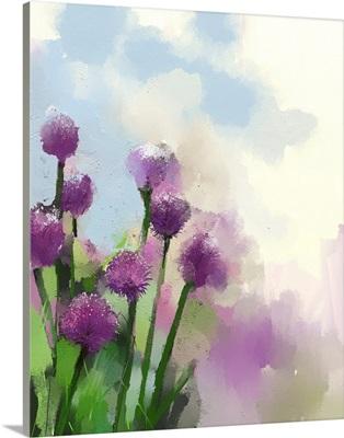 Purple Onion Flowers
