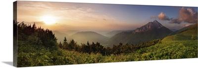 Roszutec Peak In Sunset, Slovakia Mountain Fatra
