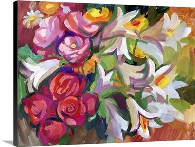 Still Life A Bouquet Of Flowers