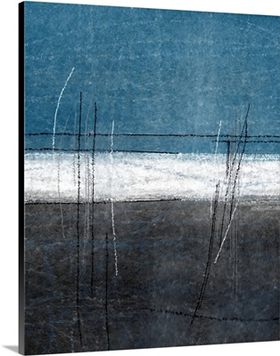 Teal And Grey Abstract