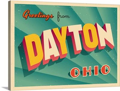 Vintage Touristic Greeting Card - Dayton, Ohio