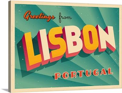 Vintage Touristic Greeting Card - Lisbon, Portugal