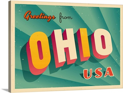 Vintage Touristic Greeting Card - Ohio