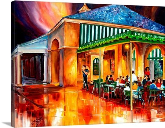 Cafe du monde wall art canvas prints framed prints wall for Restaurant cuisine du monde paris