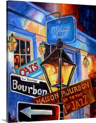Signs of Bourbon Street