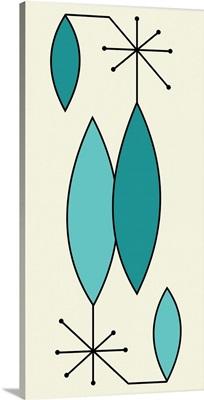Aqua and Turquoise Gravel Art 1