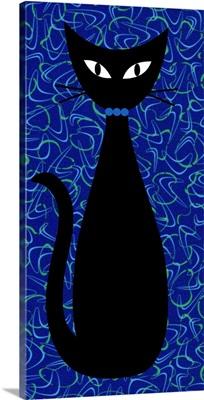 Boomerang Cat in Blue