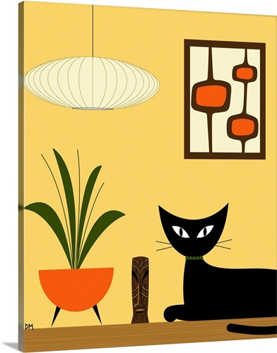Cat on Tabletop with Mini Mod Pods 3 Wall Art, Canvas Prints, Framed ...