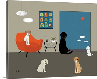 Mid Century Modern Dogs