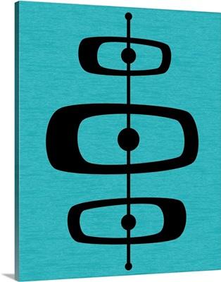 Mid Century Shapes 2 on Turquoise