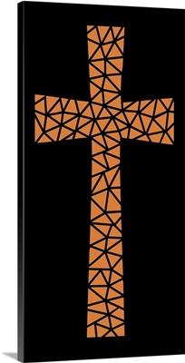Mosaic Cross in Orange