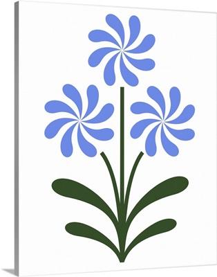 Pinwheel Flowers in Blue