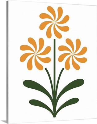 Pinwheel Flowers in Orange