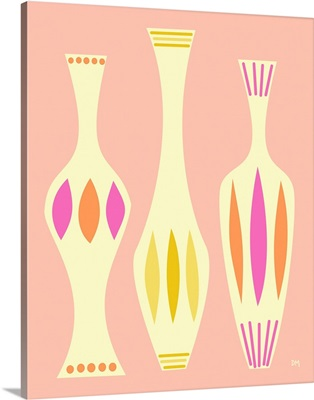 Vases on Pink