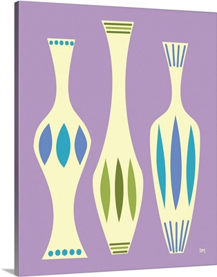 Vases on Purple