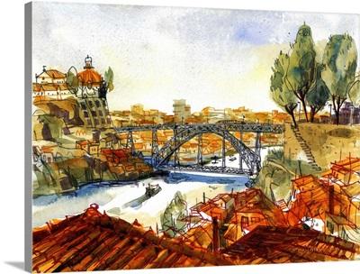 Ponte Luis I Bridge  Porto, Portugal
