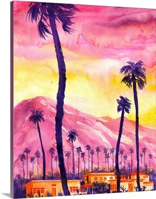 Sunset in Palm Springs, California