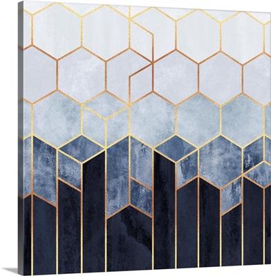 Soft Blue Hexagons
