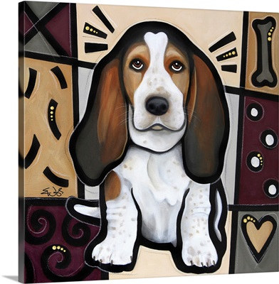 Basset Hound Pop Art