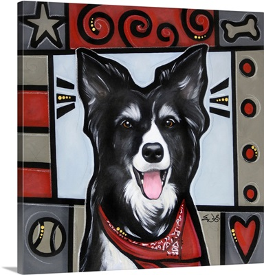 Border Collie Pop Art