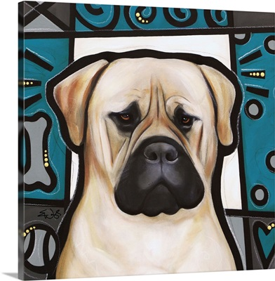 Bullmastiff Pop Art