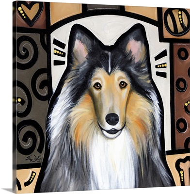 Collie Pop Art