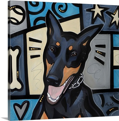 Doberman Pinscher Pop Art