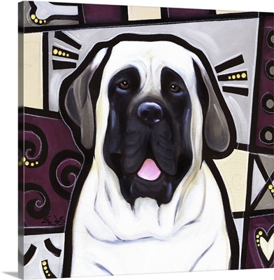 Mastiff Pop Art