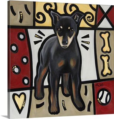 Miniature Pinscher Pop Art