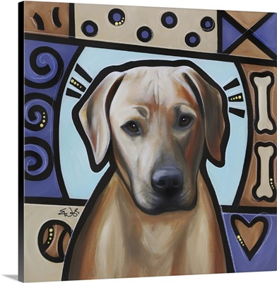 Rhodesian Ridgeback Pop Art