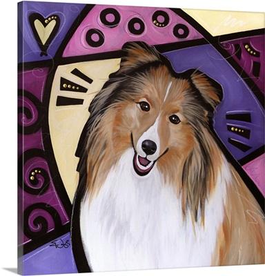 Shetland Sheepdog Pop Art