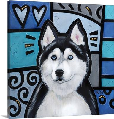 Siberian Huskie Pop Art
