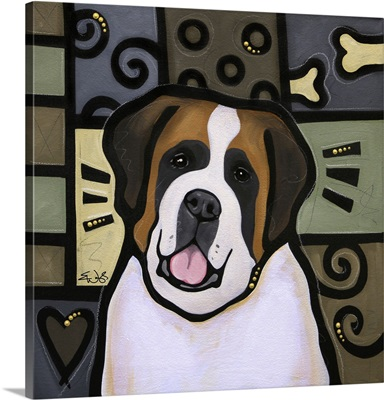 St Bernard Pop Art