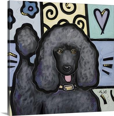 Standard Poodle Black Pop Art