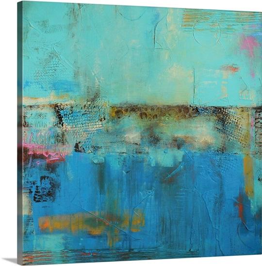 Gypsy blue wall art by erin ashley gypsy blue canvas