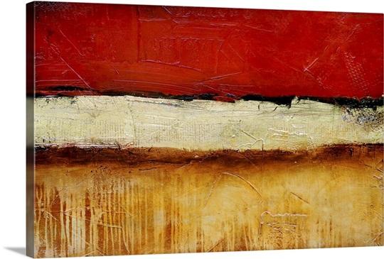Shanghai red canvas
