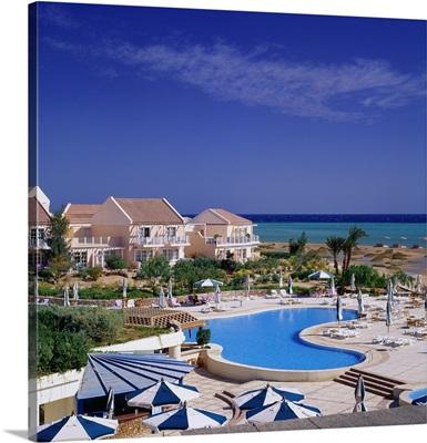 Africa, Egypt, Hurghada, El Gouna, a Bedouin style village, Movenpick Hotel