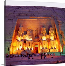 Africa, Egypt, Nubia, Abu Sunbul, the Great Temple of Ramses II