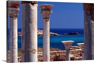 Africa, Libya, Cyrenaica, Susah (Apollonia), archaeological site