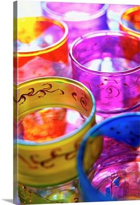 Africa, Morocco, Al-Magreb, Essaouira, Glasses for tea
