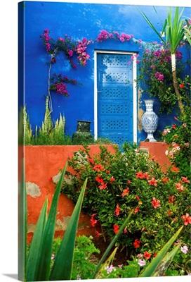 Africa, Morocco, Essaouira, Dar Mimosas Hotel, garden
