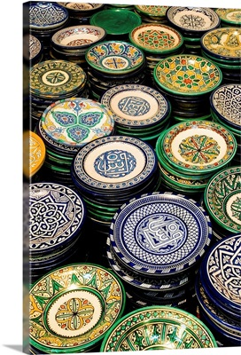 Africa, Morocco, Fez, Ain Nokbi, hand made dishes