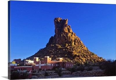 Africa, Morocco, Tafraoute village, Chapeau de Napoleon rock formation