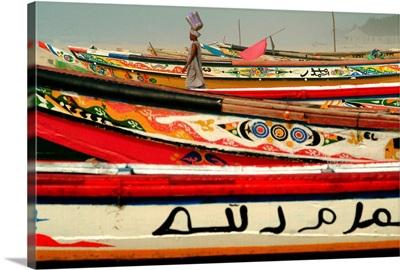 Africa, Senegal, Lompoul village, boats