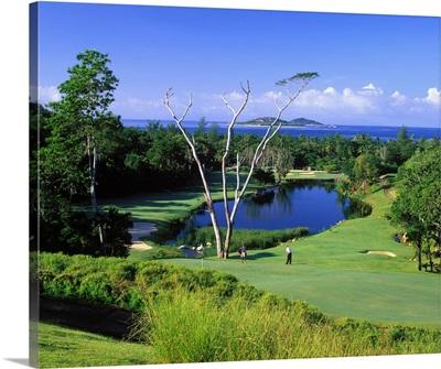 Africa, Seychelles, Praslin Island, Lemuria Resort, golf course