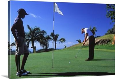 Africa, Seychelles, Praslin, Lemuria Resort, golf course