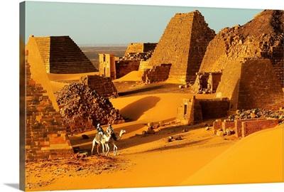 Africa, Sudan, Pyramids of Meroe